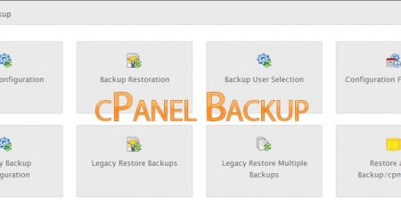 cPanel native Backup